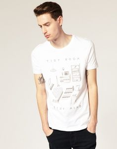 ASOS | O.Gatley for It's Nice That with ASOS Crew Neck T-Shirt at ASOS #tshirt #room #mind #its nice that #tidy #owen gatley #asos
