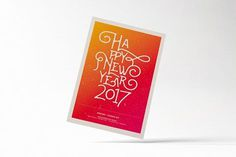 Happy New Year Flyer. #flyer #poster #newyear #card #typography #inspiration #print #template