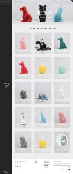 54celsius - Mindsparkle Mag - 54celsius is a online shop for special animal candles by Thorunn Arnadottir. The website is awarded as site of
