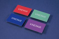 VinePair Leta Sobierajski #bright #business #card #colours #logo #typography