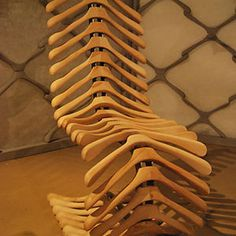 Coat Hangers Turned Into A Chair #interior #design #decor #deco #decoration