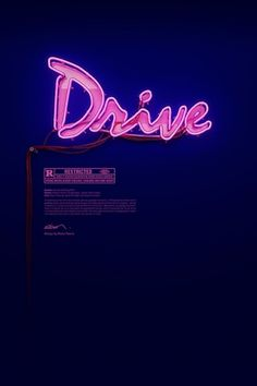 DRIVE neon / ON on the Behance Network #magenta #neon #drive