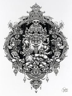 Design You Trust – Design Blog and Community #frame #ornate #illustration #arms #eyeballs #detailed #sketch