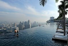 singapore's sky park pool photo | one big photo #skymall #pool #singapore