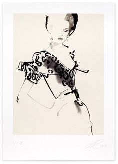 David Downton - Fashion Illustration - Stop Press! 2011 #white #black #women #illustration #art #and #fashion