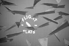 Flight To The Flats on Behance #airplane #installation