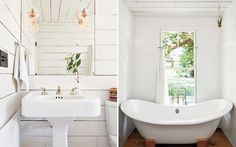 martha stewart white bath #interior #design #decor #deco #decoration