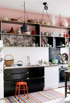 pink #interior #design #decor #kitchen #deco #decoration