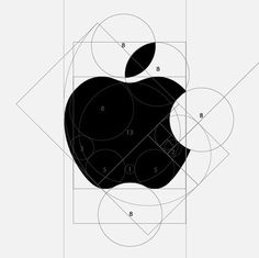Golden Ratio Apple Logo | Shiro to Kuro #logo #design #golden #ratio