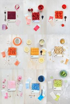 This could be cool way to display teas minimalistitemized colorful way to show teas. #starts #food #handmade #pantone #swatches