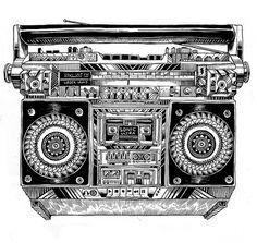 new stuff 2 on the Behance Network #nankin #radio #illustration #ink