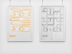 Minimal Retro Posters on the Behance Network