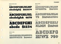 Daily Type Specimen | The Beton family was designed by Heinrich Jost for... #typography