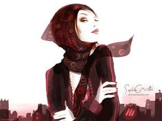 Excellent illustrations by French fashionista Sophie Griotto   CreativeBite.net #illustration