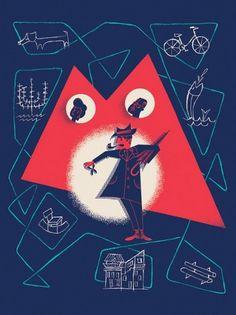 Mon Oncle a film by Jacques Tati | Flickr - Photo Sharing! #ella #man #guy #umbrella