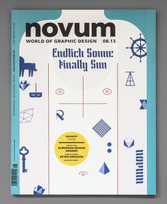 novum magazine cover #uv #sun #silkscreen #twopoints #novum #gebrauchsgraphik #sunburn #magazine