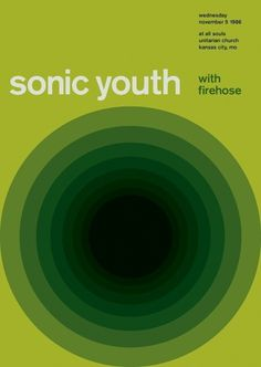 sonic youth at all souls, 1986 - swissted #punk #swiss #design #graphic #posters