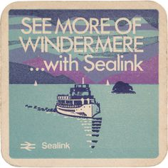 British Rail Sealink Coaster #british #sealink #print #design #graphic #ferry #ship #rail #boat