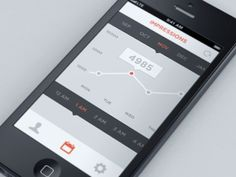Interactive Graph #4985 #orange #interface #ui #graph #mobile