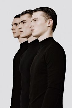 men #profile #three #a #in #row #black #photography #men #fashion #collage