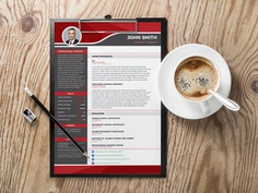 Free Formal Vector Resume template with Classic Design