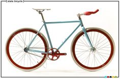 State Bicycle Co. - Classic #red #fixed #design #gear #bike #blue