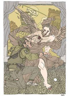 knifesaint.jpg (imagen JPEG, 900 × 1273 píxeles) #illustration #war #soldier #angel #numanhoid #pisket