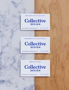 Collective Design by Mother Design #graphic design #branding #stationary #business cards