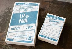 lovely-stationery-liz-and-paul1 #invitation #print #paper #wedding #typo