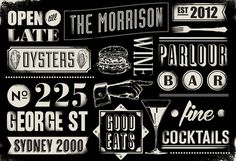 Gemma Warriner - The Morrison Bar & Oyster Room #new #bar #york #typography