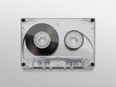 Dribbble - cassette_hres.jpg by Román Jusdado #transparent #illustration #tape #cassette