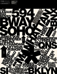 Architectural League of New Yorkby Michael Bierut #white #michael #serif #typography #sans #black #bierut #york #pentagram #new