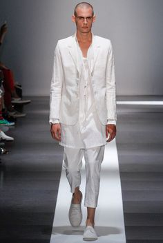 Ann Demeulemeester | Spring 2015 Menswear Collection | Style.com #white #menswear