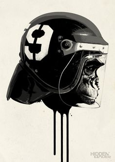Character Designs on the Behance Network #helmet #monkey