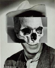 John Stezaker | who killed bambi? #collage #skull #cowboy