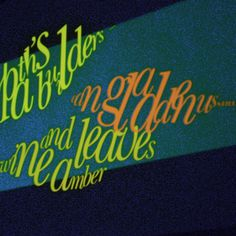http://www.electricangel.co.uk/wp content/uploads/2009/02/magic lantern 11.jpg #typography