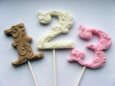 Filigree numbers #lollipop #number #sweets #typography