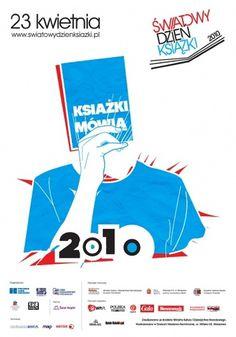 Książki Mówią - parkink #blue #red #poster #drawing