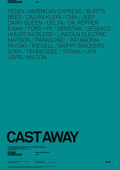 Movie Poster with Brands, by Antrepo #inspiration #creative #movie #design #graphic #poster #teal #cast #away