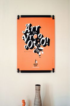 Screenprint poster with Breizh Cola