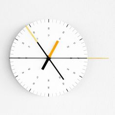 Wall Clock by Ordinary Purposes #numbers #clock #design