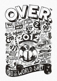 All sizes   OVER 2012   Flickr - Photo Sharing! #illustration #blackwhite #typography