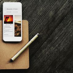 Handy tools. #Sample - Be inspired by Rawpixel.com #phone #smartphone #notebook #pen #notepad #notes #technology #realimage #social #brand