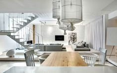 Trendy Duplex Apartment by FORM Bureau - #decor, #interior, #homedecor, #design, #home, #white