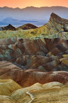 Let's Take a Walk, zabrinskie point, death valley national park | Flickr - Photo Sharing! #color #valley #landscape