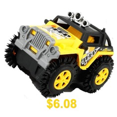 Super #Electric #Cross-country #Track # #Tipping #Jeep #Car #for #kids #- #YELLOW