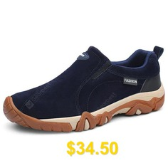 Men #Outdoor #Shock-absorbing #Slip-on #Hiking #Sports #Shoes #- #DEEP #BLUE