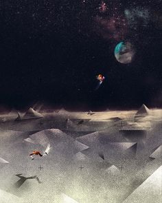 The Black Harbor || Dan Matutina #illustration #space