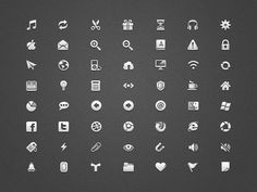 Icons small set #icons #ui