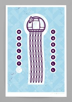Mechanical Jellyfish Print (Limited Edition) | Marley Carroll #poster #screen print #gig #jellyfish